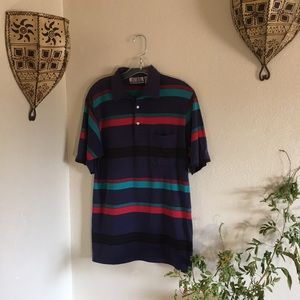 🎪VTG stripe polo shirt